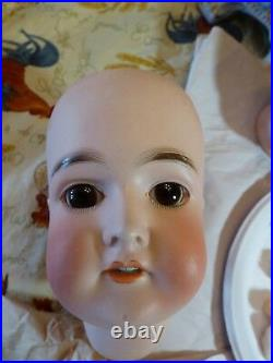 Antique Bisque Head Doll Queen Louise 25 AM/Wolf Compo Body Gorgeous Bisque/Wig
