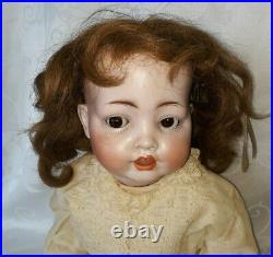 Antique Bisque Head Koenig Wernicke Flirty Eye Baby Doll Tlc $222.22