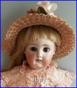 Antique Early Kestner Bisque Shoulder Head Closed Mouth Pouty 13 German Doll