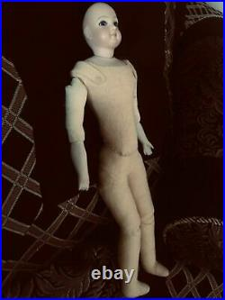 Antique French Fashion Doll 14 With Bisque Head And Forearms