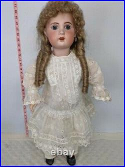 Antique French Jumeau Bisque Head Doll late 1800's Head Jointed Composite Body