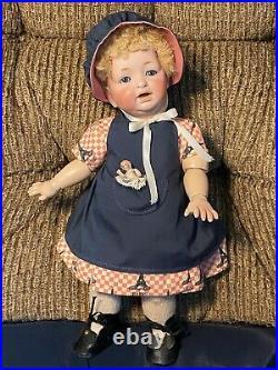 Antique GERMAN BABY DOLL Toddler Jointed Body Bisque Head JDK KESTNER 11