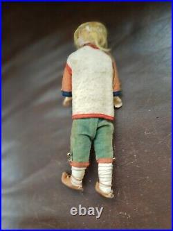 Antique German 10 in Glass Eye German bisque head Doll All Original