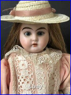 Antique German 12 Ernst Heubach Doll Bisque Head Leather Body Mold 1909