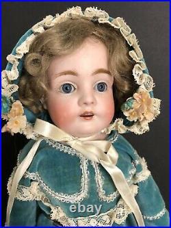 Antique German 15 Kestner  Bisque Head Doll Oilcloth Body