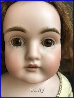 Antique German 17 Kestner 154 Bisque Shoulder Head Doll