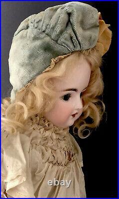 Antique German 20 Kestner Alphabet Series K Bisque Head Doll Leather Body