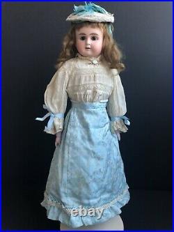 Antique German 22 ABG, Alt Beck Gottschalk Turned Bisque Head Doll