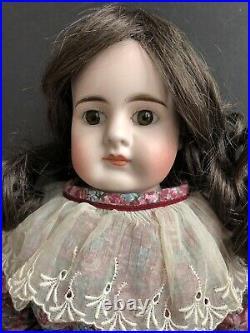 Antique German 22 Bahr & Proschild  Belton Type Bisque Head Doll Kid Body