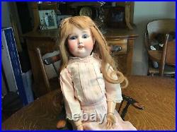 Antique German 22 Gebruder Kuhnlenz Bisque Head Doll Compo/stringing loose