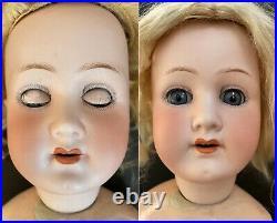 Antique German 22 Heubach Koppelsdorf 250 Bisque Head Doll Wood/Comp Body
