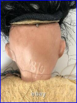 Antique German 8 Indian Native American Bisque Head Comp. Body Doll