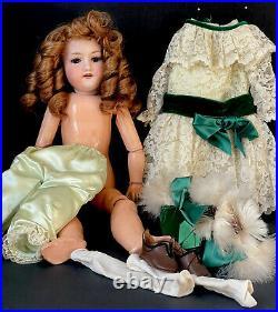 Antique German Armand Marseille 21 Doll 390 A 5 M Bisque Head Composition Body