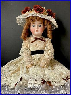 Antique German Armand Marseille 22 Queen Louise 100 Doll Bisque Head