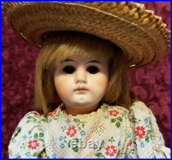 Antique German Bisque Head Doll Belton Type 100 Closed Mouth Paperweight Eyes
