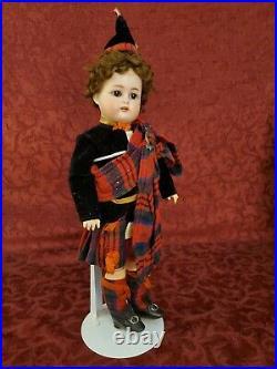 Antique German Bisque Head Kammer Reinhardt Simon & Halbig Boy Doll 13
