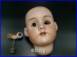 Antique German Bisque Socket Doll Head Heinrich Handwerck Simon Halbig #7