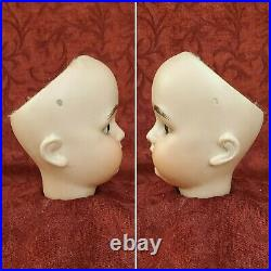 Antique German Bisque Socket Doll Head Mystery Maker LHK For French Market & Wig
