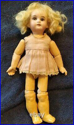 Antique German Bisque Socket Head Doll Tiny 8.5 A&M Mark not readable