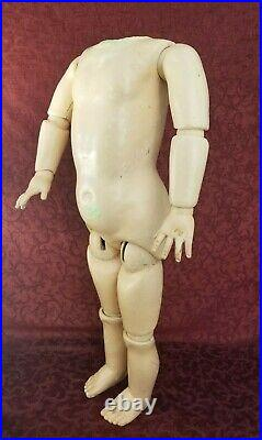 Antique German GRAND Size Antique Fully Jointed Doll Body For Bisque Head 28in