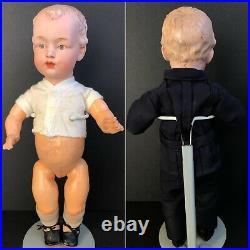 Antique German Gebruder Heubach 7622 Bisque Head Boy Doll