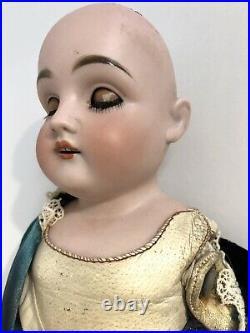 Antique German Kestner 154 Bisque Head Lady Doll Kid Body