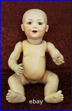 Antique German LIFE SIZE 22 Bisque Socket Head Baby Doll Armand Marseille 327
