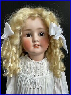 Antique German Large 29 Schoenau & Hoffmeister 914 12 Bisque Head Doll