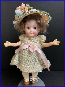 Antique German Miniature Gebruder Heubach 9573 Googly Bisque Head Doll