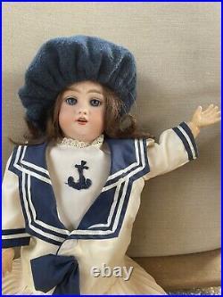 Antique German RARE Bisque Head Doll Mold SH 1039 19 tall 1800's Circa