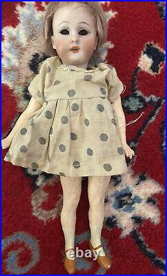 Antique German RARE Simon & Halbig Miniature Bisque Head 1078 Flapper Doll 8