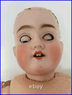 Antique German Schoenau & Hoffmeister 1909 Bisque Head Doll Sleep Eyes PB Star