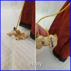 Antique German Simon Halbig Bisque Socket Head Dollhouse 1160 Lady Doll with Dog