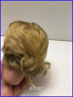 Antique German Simon Halbig Doll Head 1159 6 1/2 With Wig