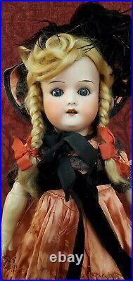 Antique Germen Bisque Head Doll Heubach Koppelsdorf 250 Girl 13 inches Sleep Eye