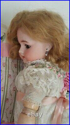 Antique Heinrich Handwerck Simon &Halbig Doll 14Bisque Head Stamped Body WOW