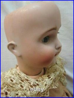 Antique Hertel Schwab #136 Bisque Head 24 Ball Jointed Child Doll