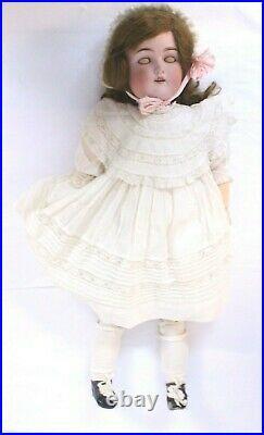 Antique JD Kestner 1880-1920 German Rare Bisque Porcelain Head/Body Doll #168