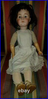 Antique Karl Hartmann Bisque Head Doll Nice Dress Antique Shoes Stockings 27