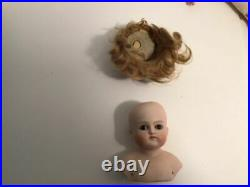 Antique Original German Closed Mouth Bisque Head Doll, Collectible