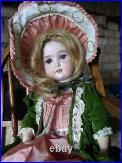 Antique SPECIAL DOLL BY ADOLF WISLIZENUS GERMANY BISQUE HEAD 24 WOOD COMP BODY
