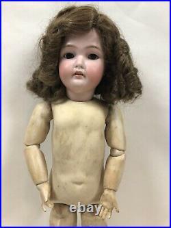 Antique Simon & Halbig Bisque Head Wood Body CMB 21 Doll