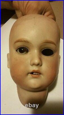 Antique Simon & Halbig CM Bergmann Bisque Head Doll Original 1888-1931 Germany
