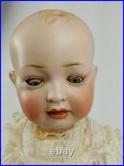 Antique Vintage Bisque Dome Head Baby Character Hertel & Schwab 151 Seeley Body
