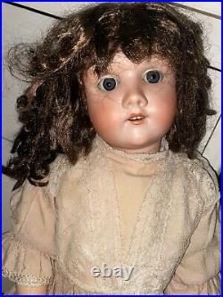 Beautiful Antique Max Handwerck German Bisque Head Doll 24