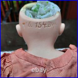 Beautiful Kestner Bisque Head Doll 18 154 Dep