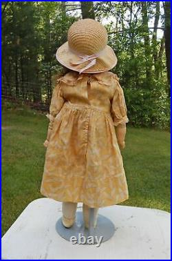 Charming 22 Antique Bisque Head Kestner Doll W Original Leather Body 154 Dep 10