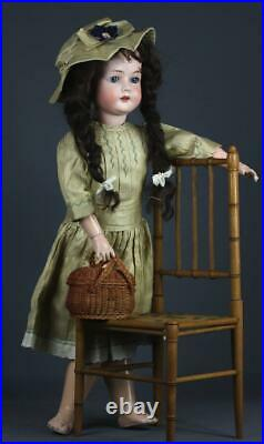Dreamy bisque head 24 C. M. Bergmann waltershausen 1916 with basket