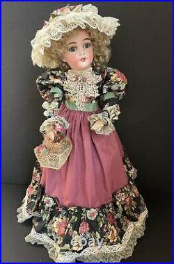 Early Antique German 24 Armand Marseille Queen Louise Bisque Head Doll