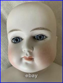 Early German Bisque Turned Head Doll